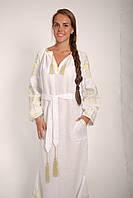 Свадебное платье вышитое бохо  лен, этно, бохо-стиль, вишите плаття вишиванка, весільна сукня