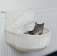 Мягкое место подвесное для кота, хорька, шиншиллы (плюш) 45х13х33см,белый