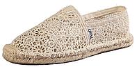 Женская летняя обувь 2017 эспадрильи Toms бежевые