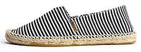 Женская летняя обувь 2017 эспадрильи Toms черные и белые в полоску