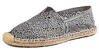 Женская летняя обувь 2017 эспадрильи Toms серые
