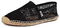 Женская летняя обувь 2017 эспадрильи Toms черные