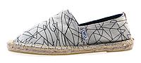 Женская летняя обувь 2017 эспадрильи Toms белые с узором