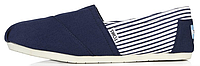 Женская летняя обувь 2017 эспадрильи Toms синие/белые