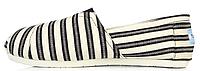 Женская летняя обувь 2017 эспадрильи Toms Томс черные/белые