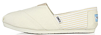 Женская летняя обувь 2017 эспадрильи Toms бежевые/белые