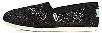 Женская летняя обувь 2017 эспадрильи Toms Black Томс черные