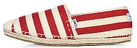 Женская летняя обувь 2017 эспадрильи Toms Томс красные/белые