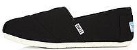 Женская летняя обувь 2017 эспадрильи Toms All Black Томсы черные