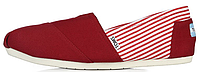 Женская летняя обувь 2017 эспадрильи Toms Red Томс красные
