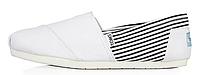 Женская летняя обувь 2017 эспадрильи Toms белые