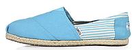 Женская летняя обувь 2017 эспадрильи Toms голубые
