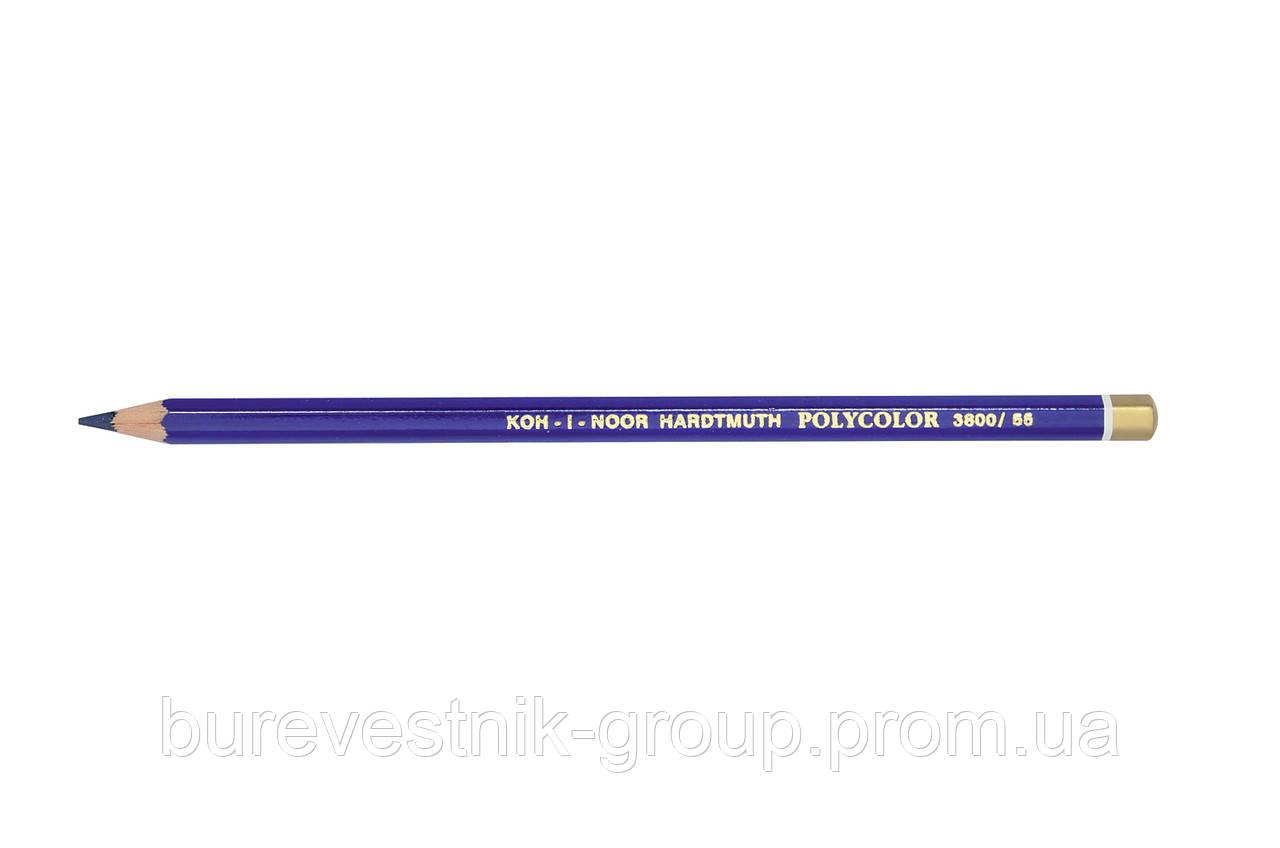 """Цветной художественный карандаш Koh-I-Noor """"Polycolor"""" PERMANENT BLUE (3800/55)"""