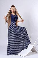 Вечернее платье длинное в пол с гипюром