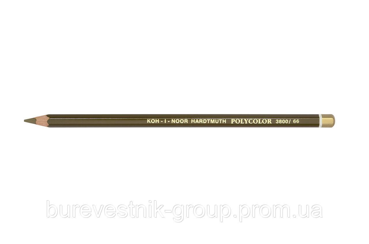 """Цветной художественный карандаш Koh-I-Noor """"Polycolor"""" RAW UMBER (3800/66)"""