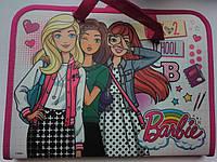 """Папка-портфель 1 Вересня на молнии с тканевыми ручками """"Barbie"""" 491140"""