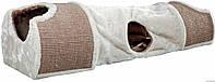Когтеточка драпак-тоннель для кошек, щенков 110х30х38см,серый/коричневый