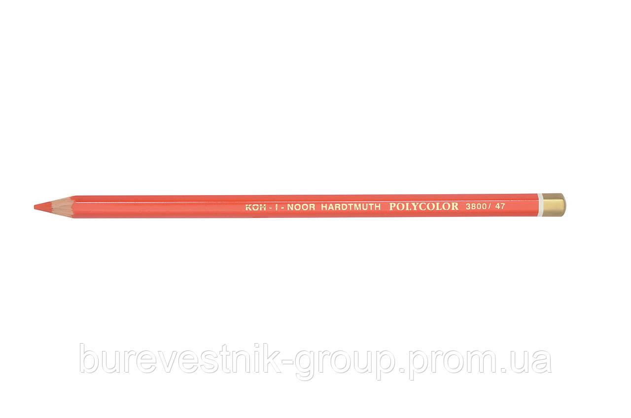 """Цветной художественный карандаш Koh-I-Noor """"Polycolor"""" SCARLET RED (3800/47)"""