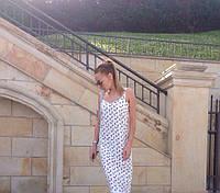 Женское белое летнее платье с бантиками миди длины. Ткань: софт. Размер: универсальный см,мл.