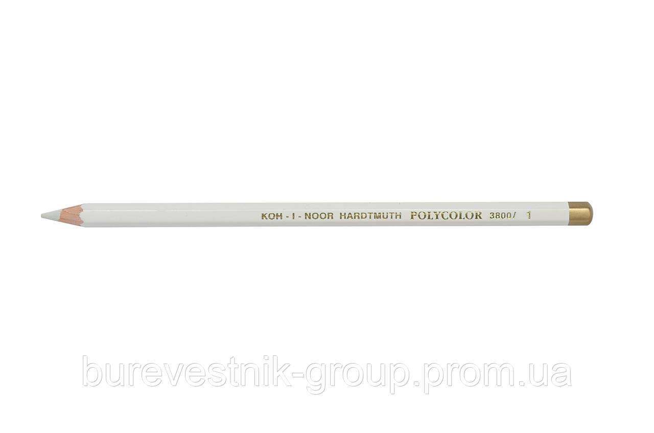 """Цветной художественный карандаш Koh-I-Noor """"Polycolor"""" TITANIUM WHITE (3800/1)"""