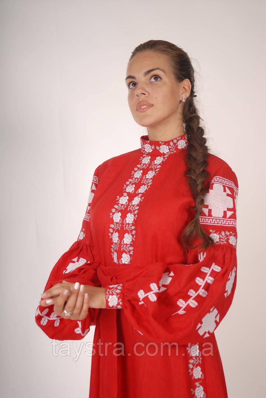 Вышитое платье вышиванка лен 88d82bb1094d0