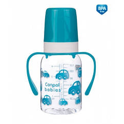 Бутылочка для кормления120 мл с ручками (BPA FREE)Canpol 11/821