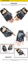 Перчатки без пальцев женские стильные с заклепками