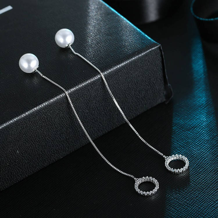Длинные тонкие нежные женские серьги серебрянные