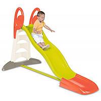 Детская горка Волна XL Smoby - Франция - длина спуска 230 см, белая лестница