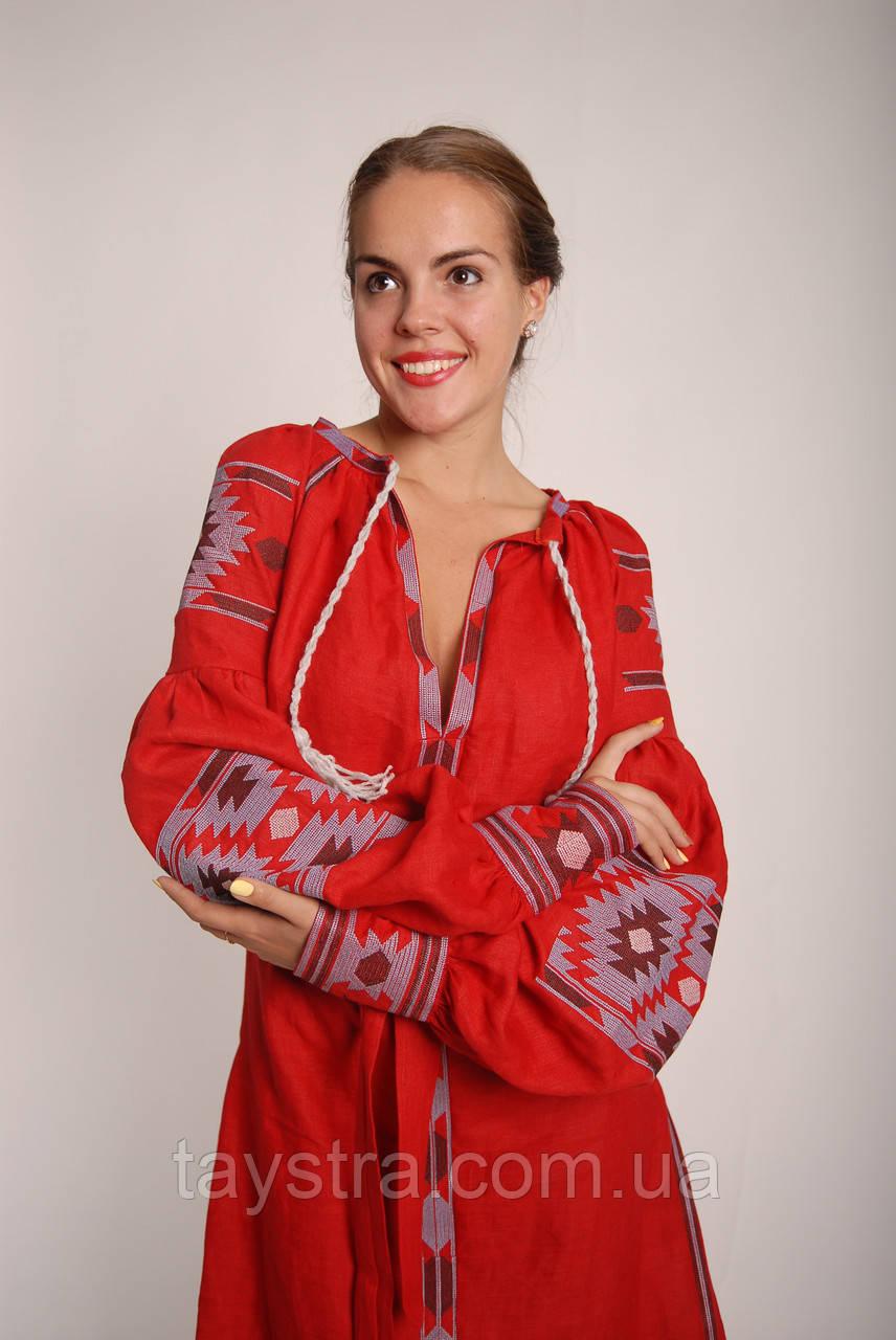 Платье бохо вышиванка лен 842a737513d39
