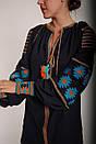 Вышитое платье лен, этно, бохо-стиль, вишите плаття вишиванка, Bohemian, фото 4