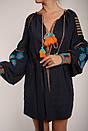 Вышитое платье лен, этно, бохо-стиль, вишите плаття вишиванка, Bohemian, фото 6