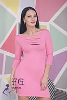 Платье с перфорацией Новинка, 9 цветов в наличии,размеры 42 44 46 48