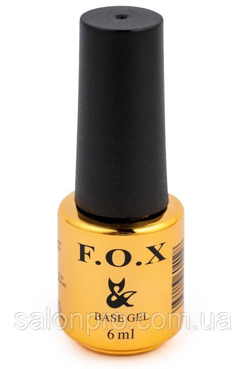 Базовое покрытие для ногтей, база FOX Base Strong, 6 мл