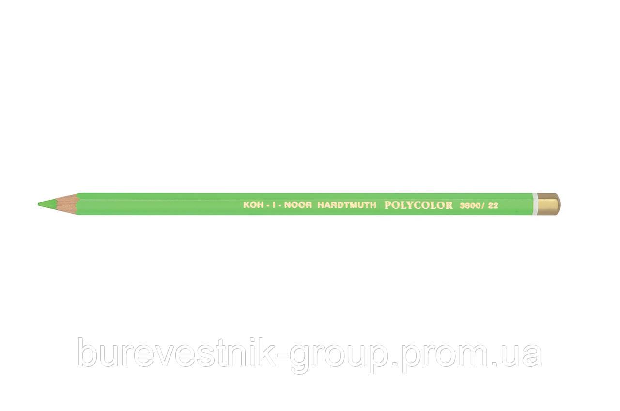 """Цветной художественный карандаш Koh-I-Noor """"Polycolor"""" YELLOWISH GREEN (3800/22)"""