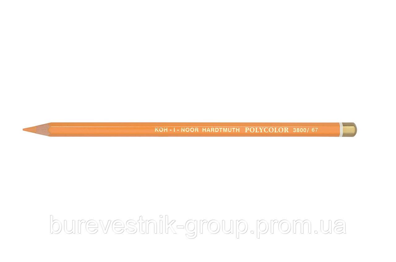 """Цветной художественный карандаш Koh-I-Noor """"Polycolor"""" YELLOWISH ORANGE (3800/67)"""