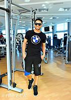 Мужской летний спортивный костюм футболка и шорты BMW