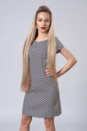 Платье мод. 277-15,размер 40,44,46,48 бежевый цветок, фото 2