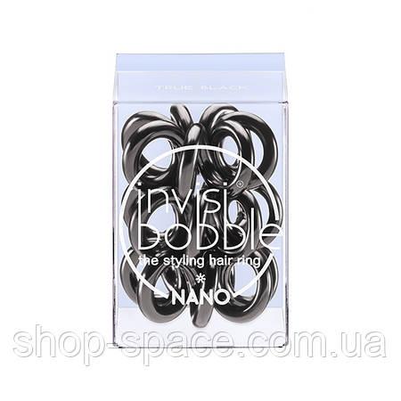 Резинка-браслет для волос Invisibobble Nano True Black (чёрная)