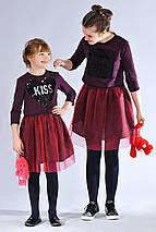 Детское красивое нарядное трикотажное платье с кофточкой, фото 2