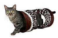 Туннель для кошки,щенков TRIXIE - плюш(жираф) 43138