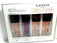 Подарочный набор парфюмерии Lanvin с феромонами 4 шт по 15 мл для женщин