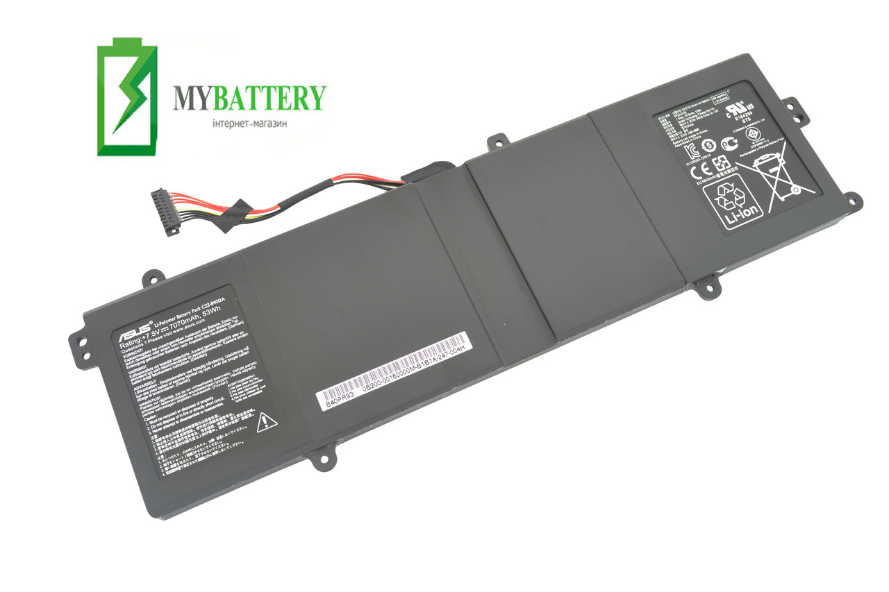 Аккумуляторная батарея Asus C22-B400A Advanced BU400 BU400A BU400V ОРИГИНАЛ