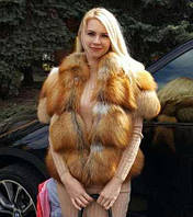 Полушубок из меха лисы Golden Fox 55-60 см