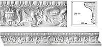 Потолочный карниз с орнаментом. Классическая декоративная лепнина из гипса