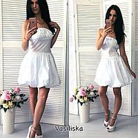 Стильное женское платье с пышной юбкой