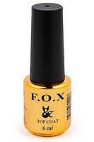 FOX Top No-Wipe - топ, финишное покрытие без липкого слоя для гель-лака, 6 мл