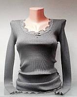 Кофта в стиле Liu Jo тонкая женская серая с длинным рукавом, фото 1