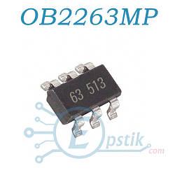OB2263, (PL3563, LD7535), контроллер питания, SOT23-6