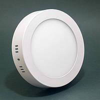 Светодиодный светильник накладной Ecostrum 18W 4000K (нейтральный) круг (LED панель)